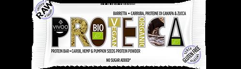 Energy bar con carruba, proteine di zucca e canapa