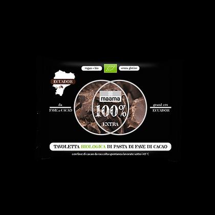 Tavoletta Biologica di Pasta di Fave di Cacao