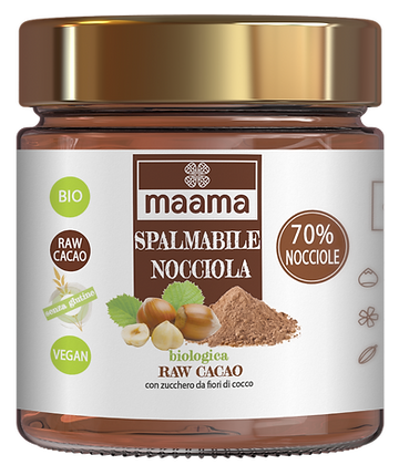 Spalmabile biologica - nocciola 70% e raw cacao
