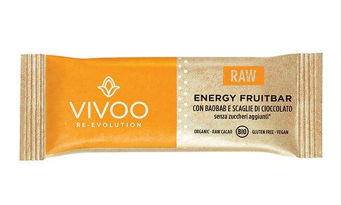 Energy Fruitbar con baobab e scaglie di cioccolato