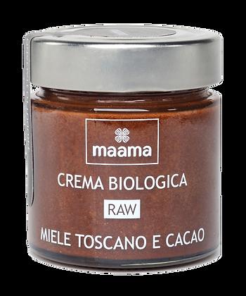 Crema biologica raw - miele toscano e cacao