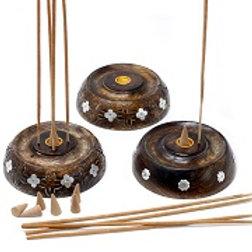 Cone & Stick Incense Burner - Mango Wood