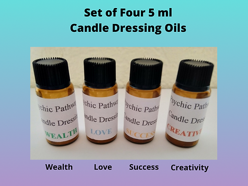 Set of Four Candle Dressing Oils