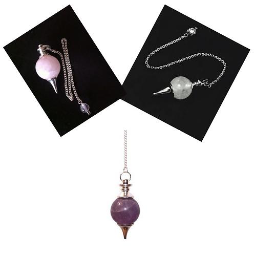 High-Quality Gemstone Sphere Pendulums
