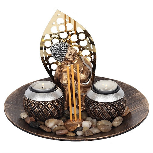 Buddha Incense Stick & Tealight Holder