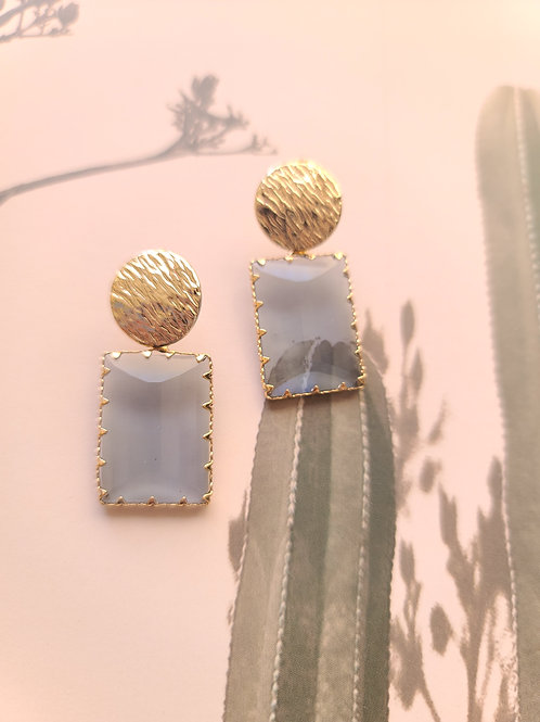 Grey Gem Earrings
