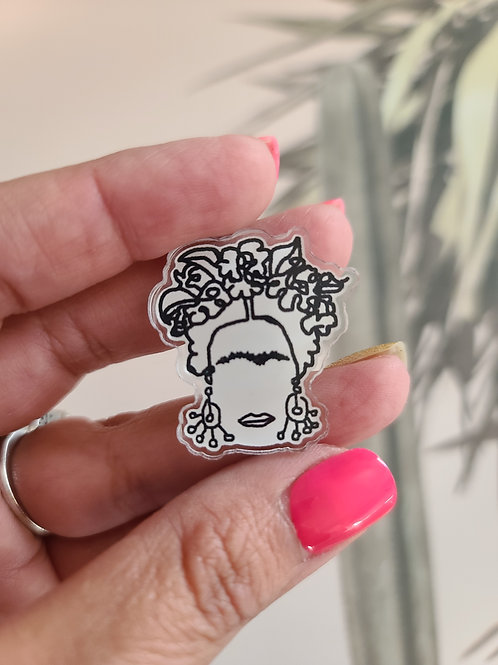 Frida Lucite Pin