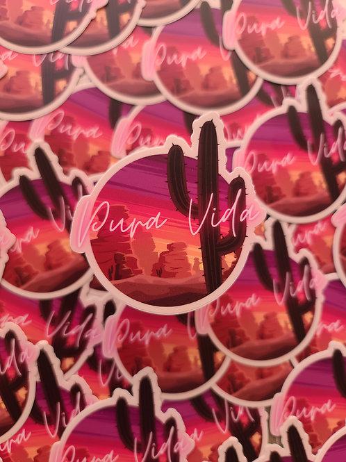"Pura Vida 3"" die cut sticker"