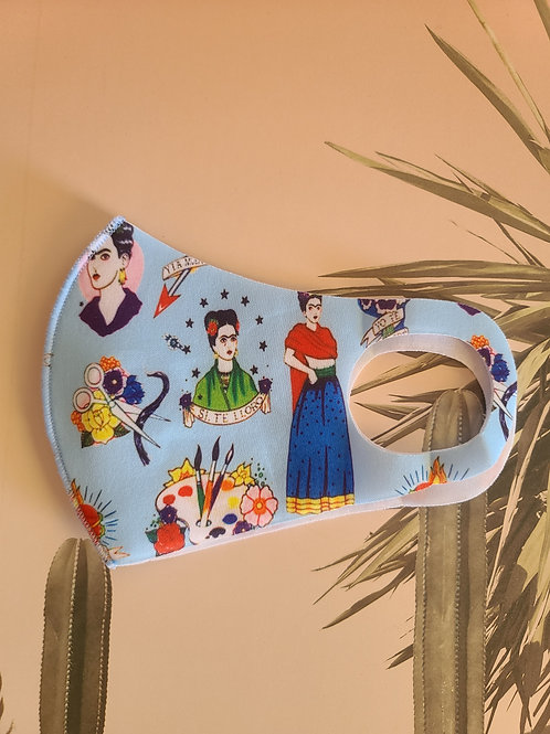 Frida scuba light Dust Proof Respirator reusable Face mask ( Frida Kahlo)
