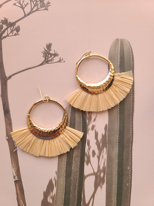 Gold Raffia Earrings