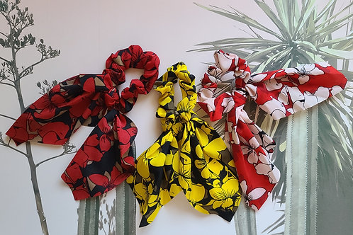 Floral Print scrunchies (Set of 3)