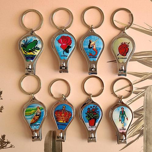 Loteria Nail clipper keychain