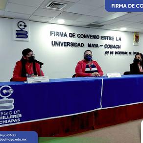 UM firma convenio con el Colegio de Bachilleres de Chiapas.