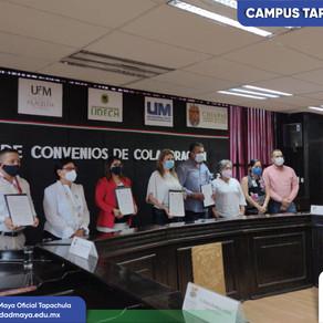 UM Campus Tapachula firma convenio con el H. Ayuntamiento Municipal
