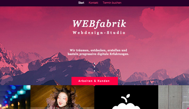 Agentur website templates – Webdesign-Studio