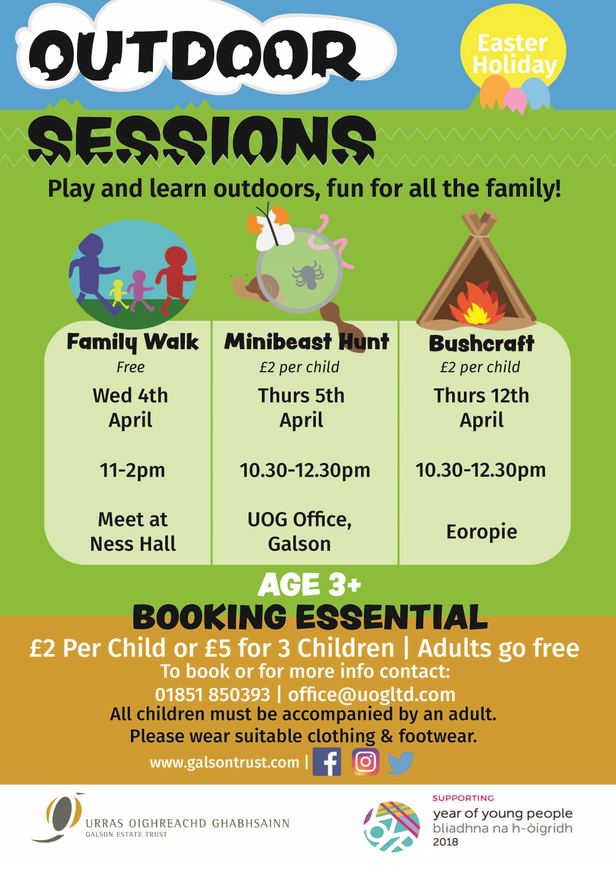 Outdoor Sessions Easter Holidays - 2018