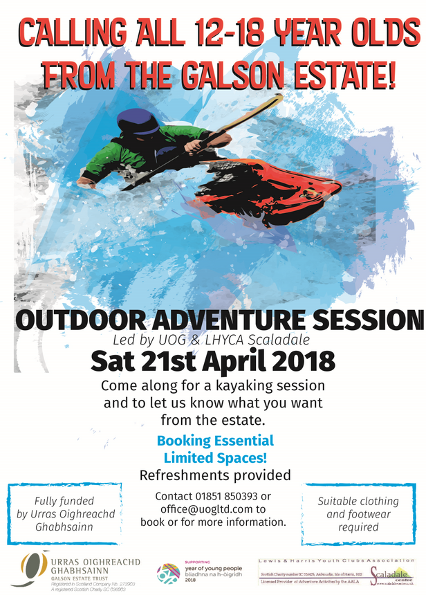 OUTDOOR ADVENTURE SESSION 21 APRIL 2018