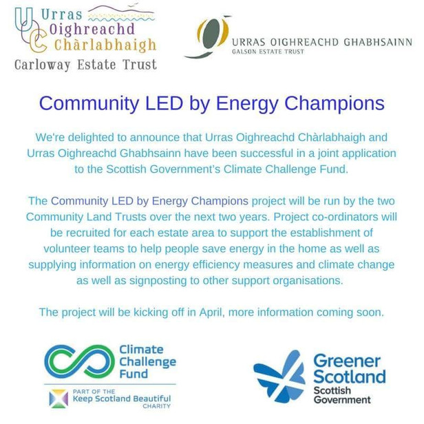 COMMUNITY LED BY ENERGY CHAMPIONS