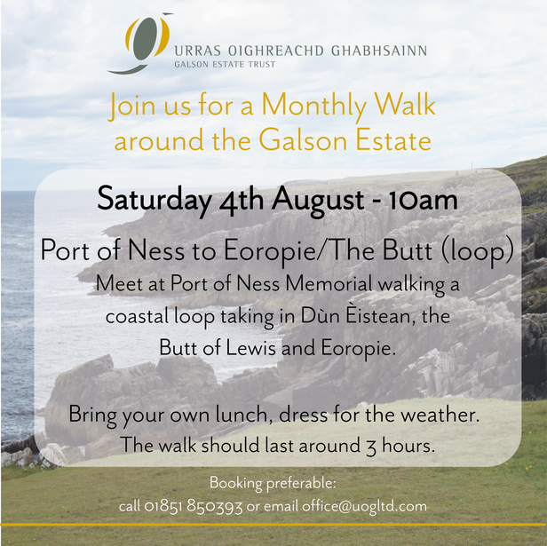MONTHLY WALK SAT 4TH AUGUST