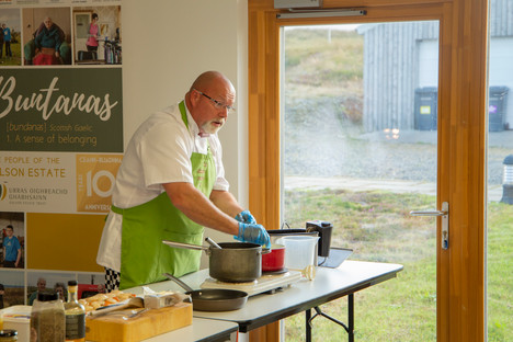 Black pudding meal demo paul Duthchas 20