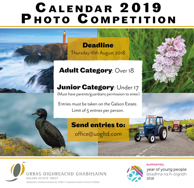 2019 CALENDAR COMPETITION OPEN FOR ENTRIES