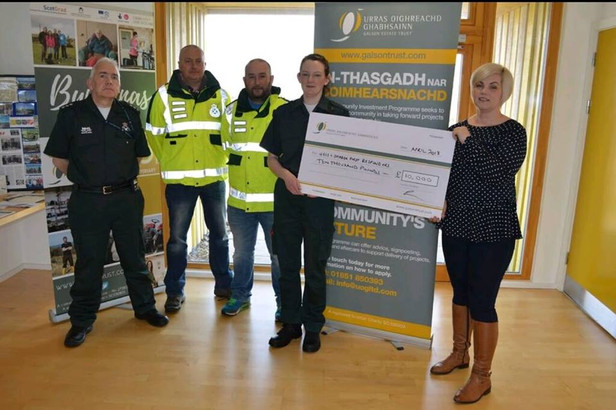£10k AWARD TO LOCAL FIRST RESPONDERS