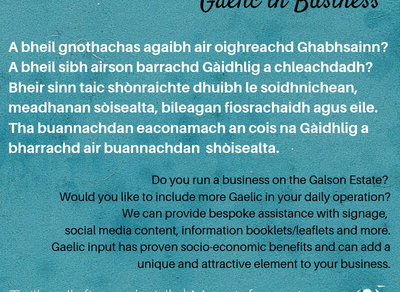 Gàidhlig is Gnothachas | Gaelic in Business