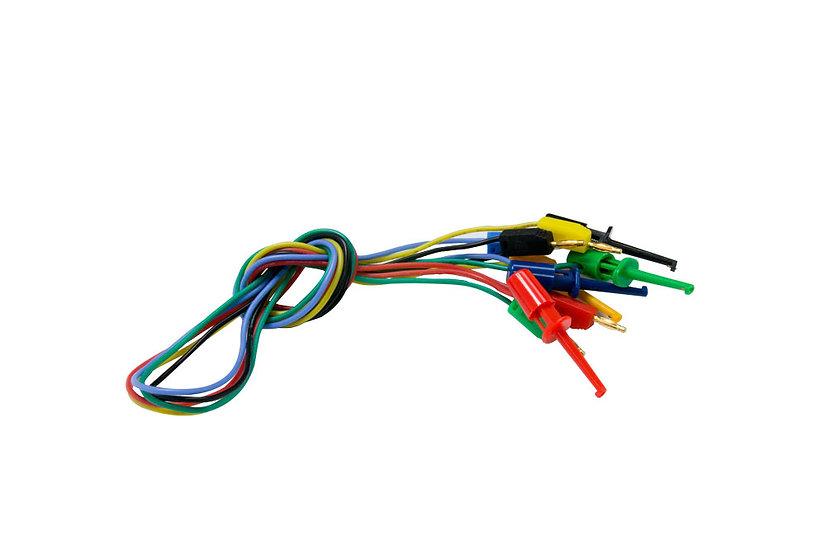 2mm Banana-Clip Cable x5