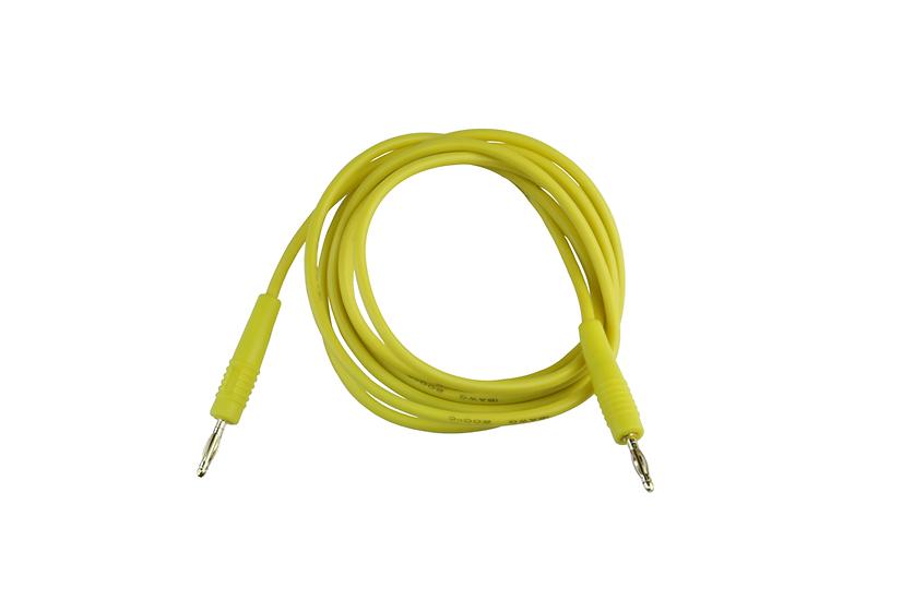 2mm Banana to Banana Jack Cable 18AWG 1 Meter - Yellow