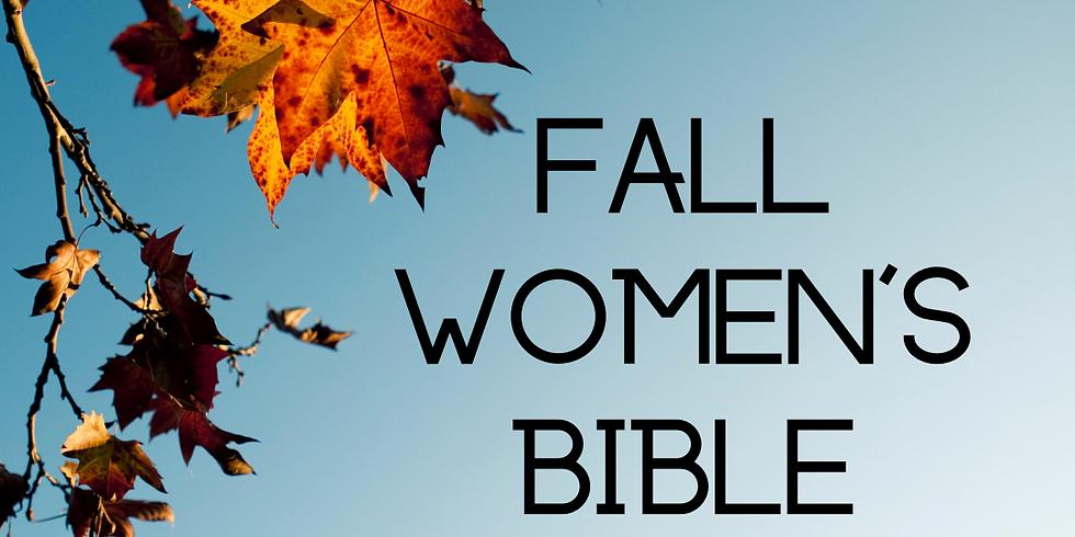 Fall Women's Bible Study- Morning Session