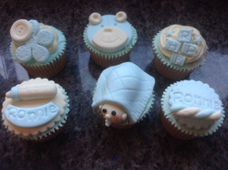 Baby christening cupcakes