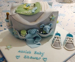 Baby bag shower cake