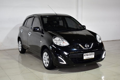 NISSAN MARCH 1.2 A/T 2018 BLACK 4กฌ-5955