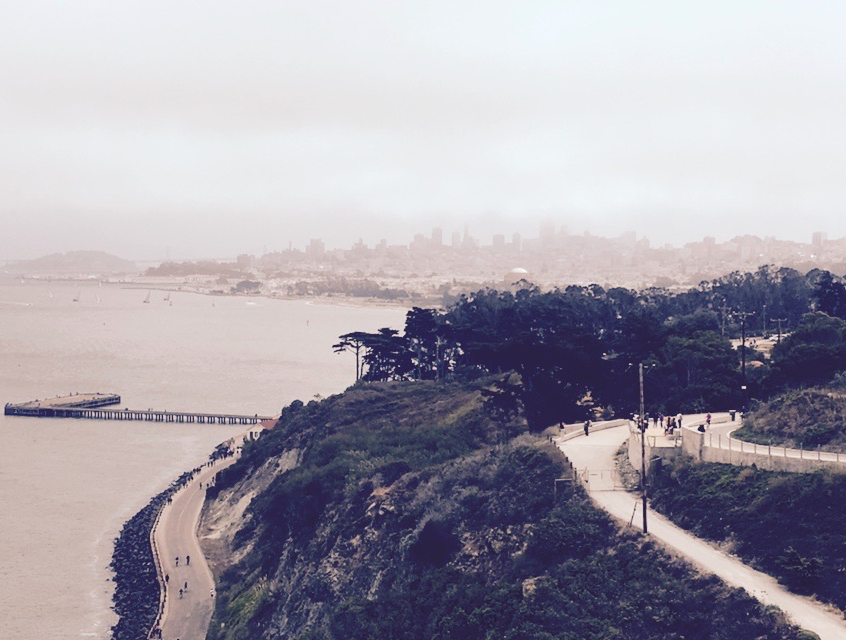 Beautiful View from the Golden Gate