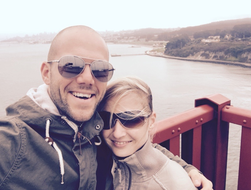 Me and my babe on the Golden Gate