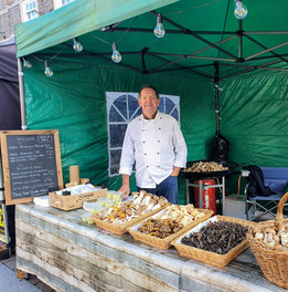 Laurent Lebeau at The Funghi Bun Stand