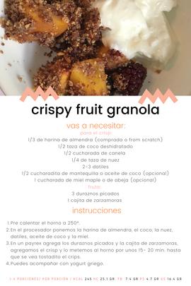 crispy fruit granola