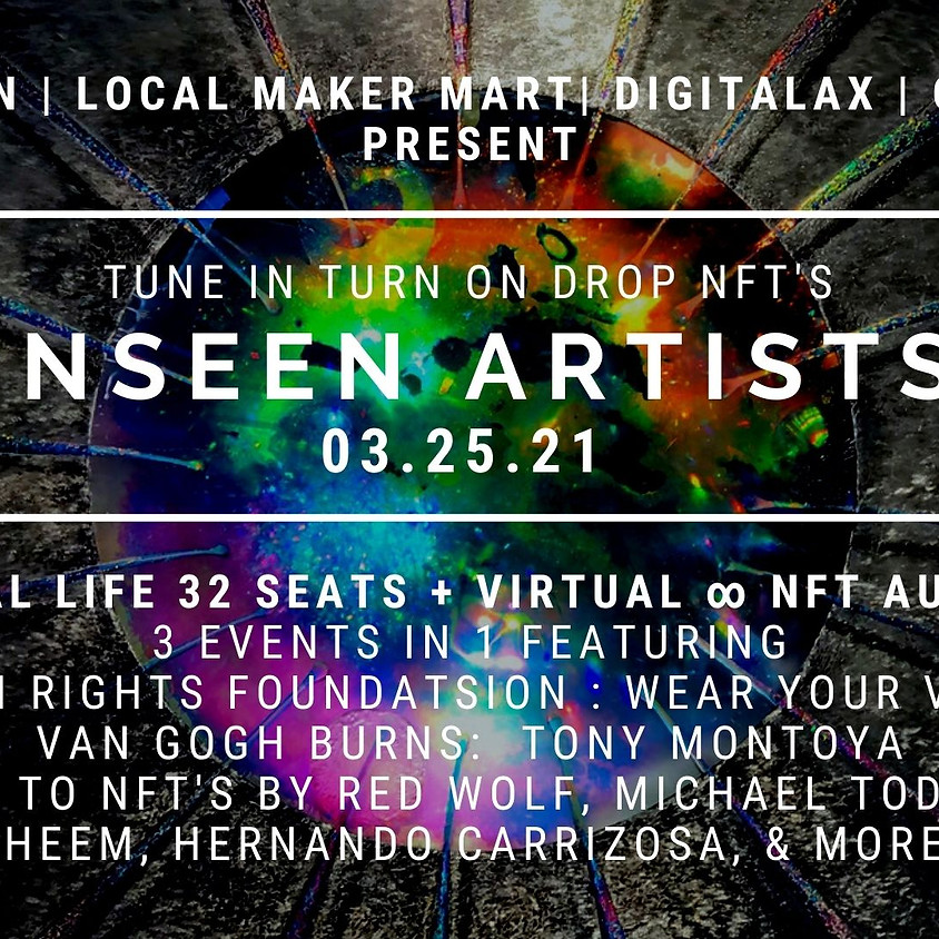 Unseen Artists Live NFT auction