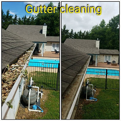 Guttercleaning before and after Delaware