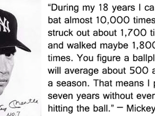 Did You Fail At The Plate This Weekend?