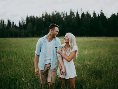 Sara + Matthew | Cute Boho Inspired Love Shoot | Edson Alberta