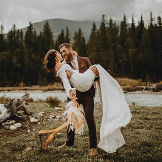 Intimate Elopement in Golden, British Columbia | Catherine + Michael