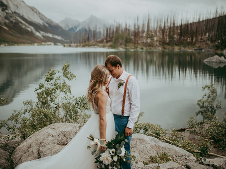 Kellan + Summer | Intimate Medicine Lake Elopement