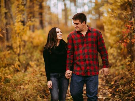 Rachel + Wylie |  Warm Autumn Love Shoot | Edson Alberta |