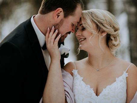 Michelle + Derek   Magical Snow Filled Wedding   Edson Alberta Wedding Photographer