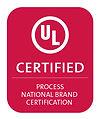 UL Certified — Process National Brand Certification