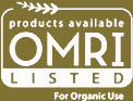 OMRI listed products available for organic use