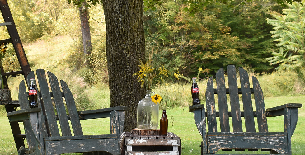 Forest Green Adirondack Chairs