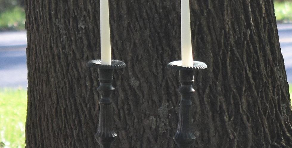 Patina Copper Candle Sticks