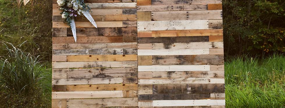 Photobooth Backdrop - Natural Wood